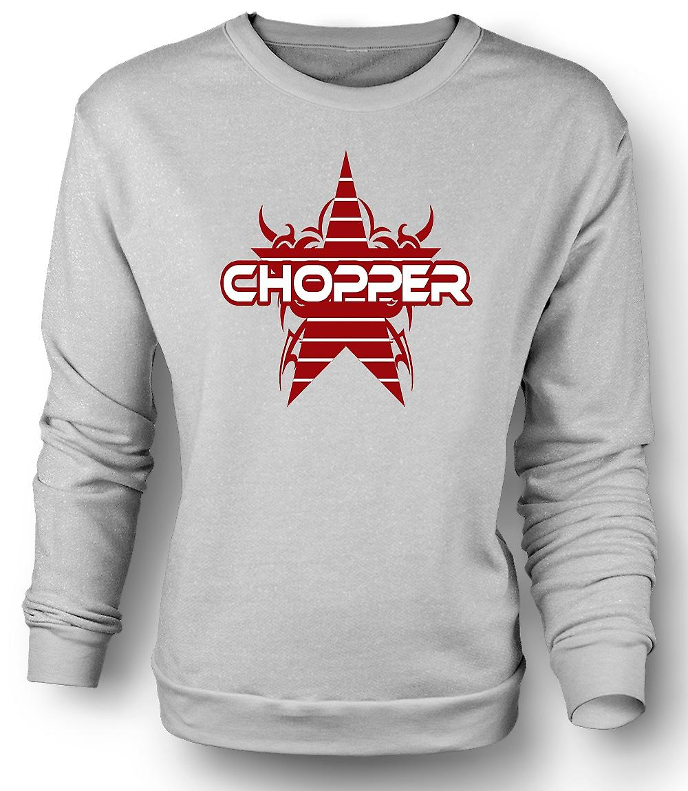 Mens Sweatshirt Chopper Retro Bike - Funny