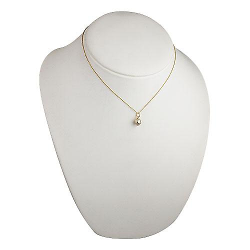 9ct Gold 10mm solid Cricket Ball Pendant with a cable Chain 16 inches Only Suitable for Children