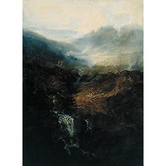 Morning amongst the Coniston Fells,J.M.W. Turner,50x40cm