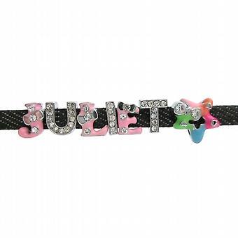 Inexpensive multicolor Name w/ Charm Star Bracelet