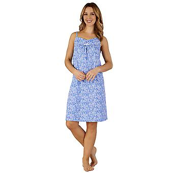 Slenderella ND3130 Women's Cotton Jersey Floral Chemise