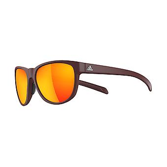 Adidas A425/00 6058 Red Wild Charge Square Sunglasses Fishing, Driving Lens Category 3 Lens Mirrored Size 57mm