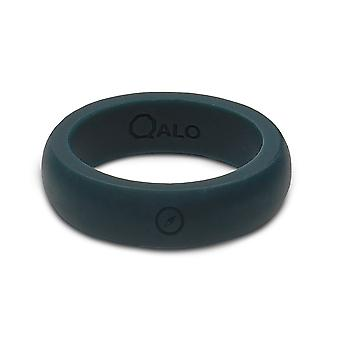 Qalo Womens Outdoors Silicone Ring with Carrying Case - Slate Gray