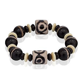 Skipper bracelet beads from natural stone bracelets elastic black 7880