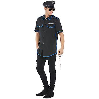 Police mens costume COP Bill Carnival