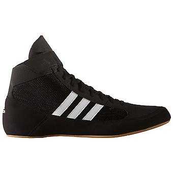 adidas Havoc Mens Adult Wrestling Trainer Shoe Boot Black/White