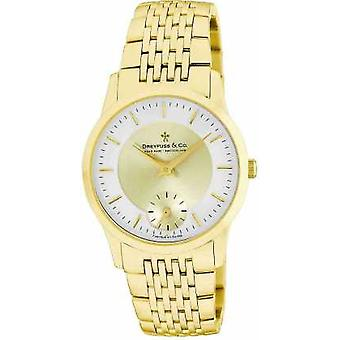 Dreyfuss Mens Gold Plated Stainless Steel DGB00002/03 Watch