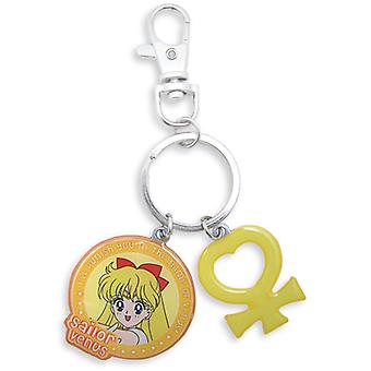 Key Chain - Sailor Moon - New Sailor Venus and Symbol Anime Licensed ge5110