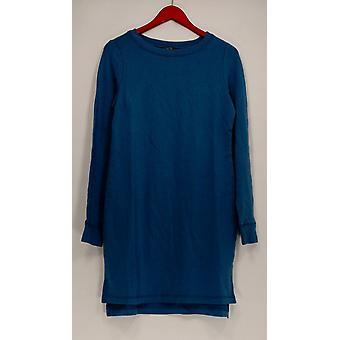 Jeder Kleid Loungewear gemütlich stricken Französisch Terry Langarm blau A293068