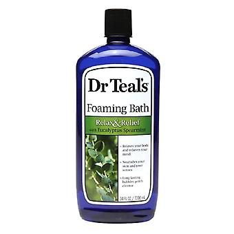 Dr. teal's foaming bath, relax & relief with eucalyptus spearmint, 34 oz