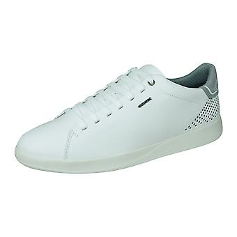 Geox U Kennet B Mens Nappa Leather Trainers / Shoes - White