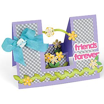 Sizzix Framelits Dies By Stephanie Barnard 23/Pkg-Step-Ups Friends Forever 660144