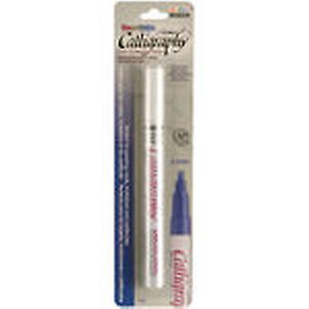 Calligraphy Pigmented Paint Marker Carded Opaque White U125c