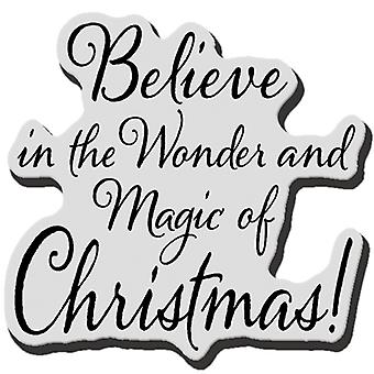 Stampendous Christmas Cling Rubber Stamp Believe Christmas Crd178