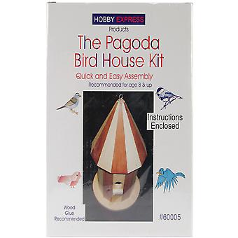 Pagoda Wood Bird House Kit. Unfinished 60005