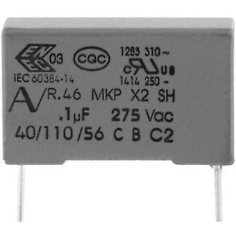 MKP suppression capacitor Radial lead 10 nF 275 V 20 % 15 mm (L x W x H) 18 x 5 x 11 Kemet R46KI21000001M 1 pc(s)