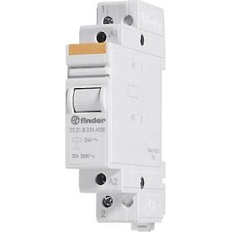 Finder 22.23.9.024.4000 Modular Contactor 1 NO/1 NC contacts 24 Vdc IP20