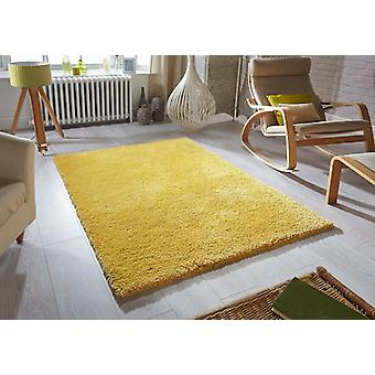 Softness Mustard  Rectangle Rugs Plain/Nearly Plain Rugs
