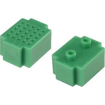 Breadboard Green Total number of pins 25 (L x W) 20 mm x 15 mm Conrad Components 1 pc(s)