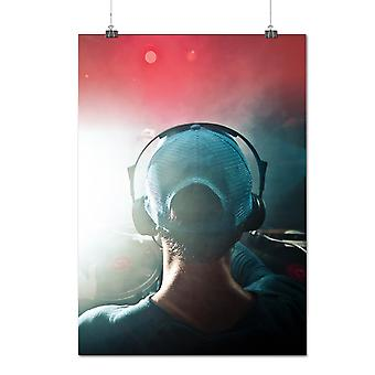 Matte or Glossy Poster with Dj Headphones Dance Music Dance Music | Wellcoda | *q1145