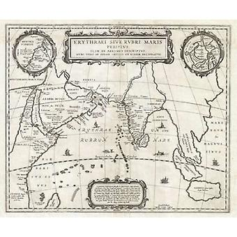 Map of Indian Ocean 1658 Poster Print by  Jan Jansson