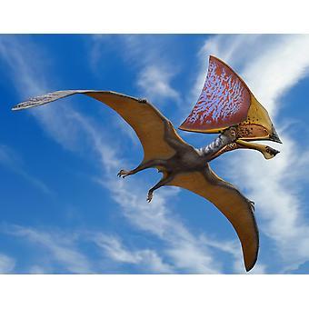 Tupandactylus imperator en Flygeøgler tidlig kritt Crato dannelsen av Brasil Poster Skriv ut