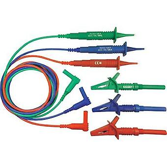 Safety test lead et [ 4 mm plug - Test probe] 1.25 m Red, Blue, Green Cliff CIH3022