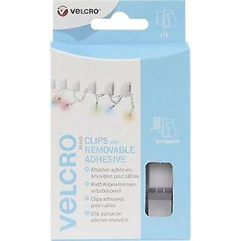 Hook-and-loop cable manager stick-on Hook and loop pad White VELCRO® brand VEL-EC60390 16 pair