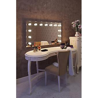 Diamond X Wallmount Hollywood Makeup Mirror with Dimmable LED k91WW