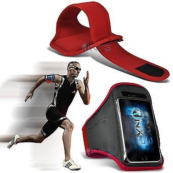 ONX3 Sony Xperia XA (2017) (rot) Fall decken einstellbare Fitness Running Joggen Radfahren Turnhalle Armband Halter