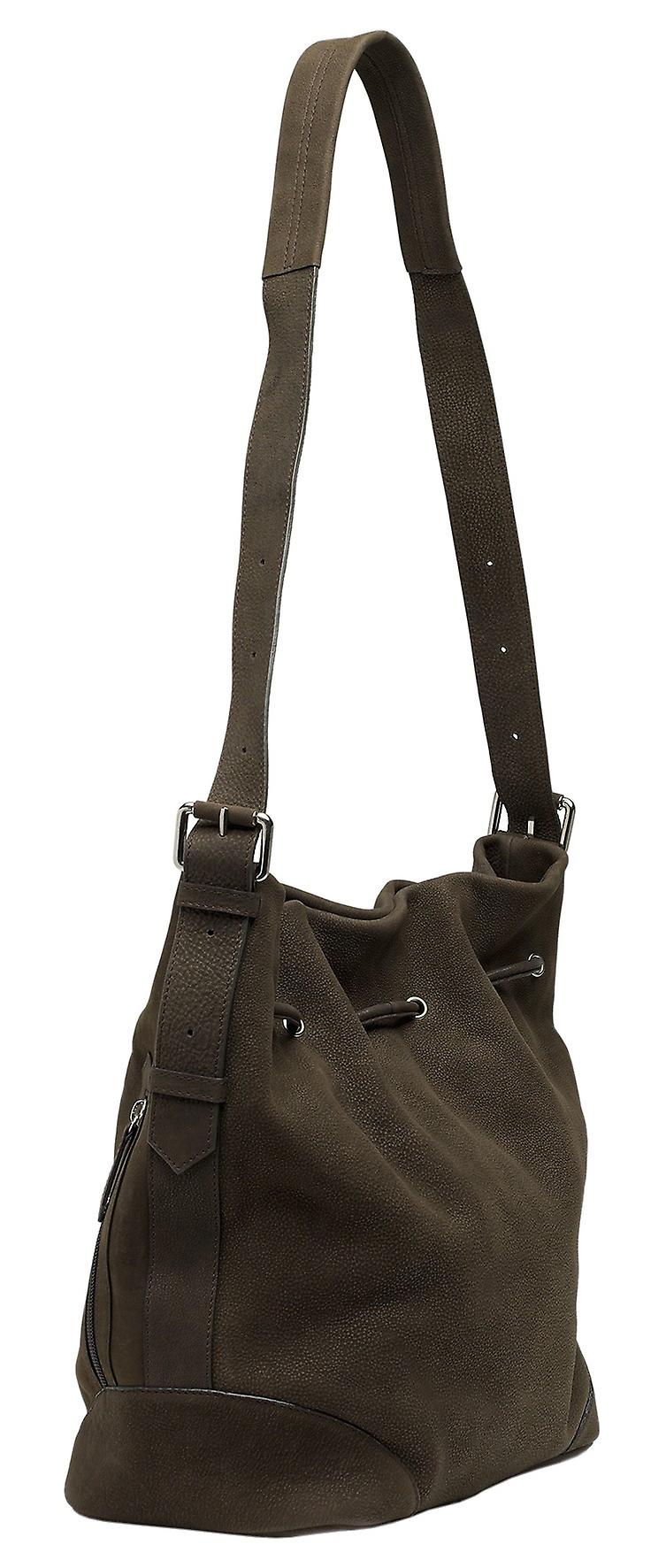 Burgmeister ladies shoulder bag T214-215A leather dark brown