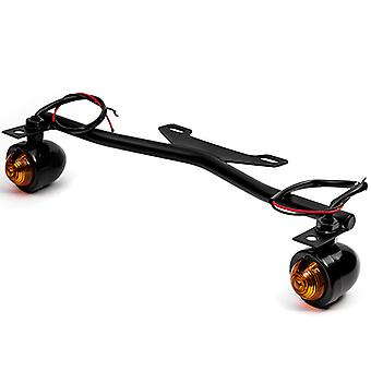 Krator� Black Driving Passing Lamp Spot Light Bar Bracket with Turn Signals Motorcycle