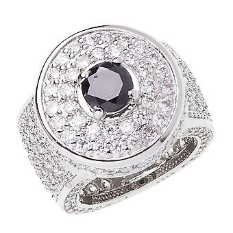 Iced out bling micro pave ring - silver KING