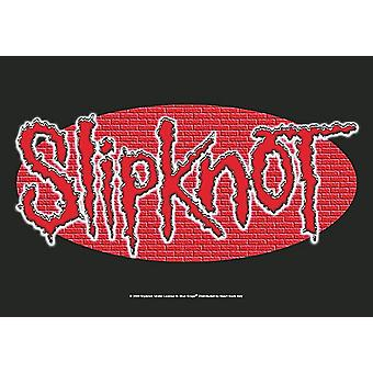Cartel de tela grande de pared Slipknot / bandera 1100 x 750 mm (h)