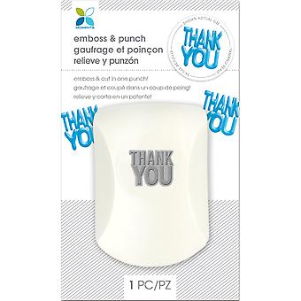 Momenta Embossing Punch-Thank You 30008