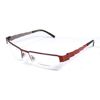 Boucheron Unisex Skinny Rectangular Eyeglasses Red