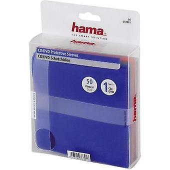 Hama CD/DVD PP case, 50 pack, colour