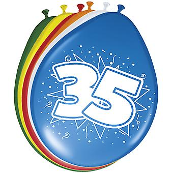 Colorful balloons balloon number 35 birthday 8 St. decoration balloons party