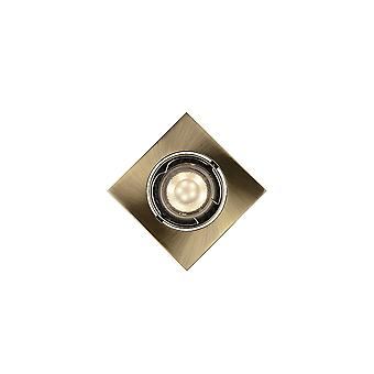 Lucide Bronze Square Spot Downlight & 5W LED Bulb