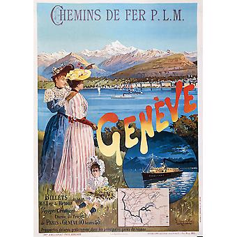 Affiche PLM Geneve Poster Print Giclee