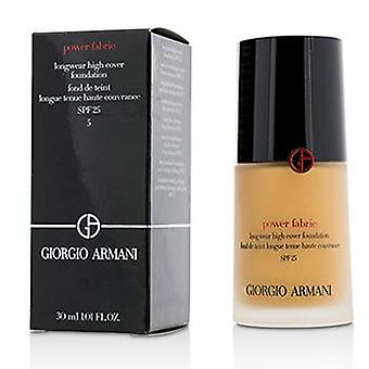Giorgio Armani Power tyg Longwear hög täckmantel Foundation SPF 25-# 5 (ljusneutral)-30ml/1.01 oz