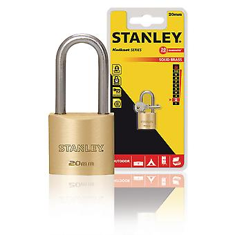 Stanley Padlock Solid Brass 20 mm