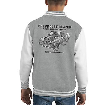 Haynes Owners Workshop Manual Chevrolet Blazer zwart Kid's Varsity Jacket