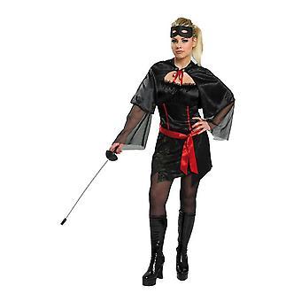 Vrouwen kostuums kostuum Zorro meisje