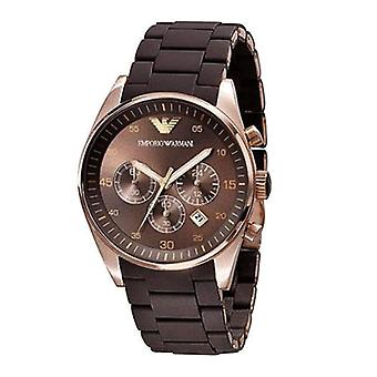 Emporio Armani AR5891 Brown & Gold Sports Silicone Chronograph Watch