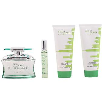 Vtrading Sex In Town Kiss Me Eau De Perfume 100Ml Vapo. + Body Milk 200ml + Gel 200ml + Eau De Perfume 20Ml V