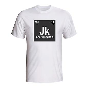 Jurgen Klinsmann Germany Periodic Table T-shirt (white)