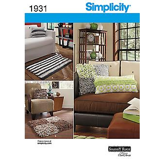Simplicity Pattern Home Decorating-ONE SIZE US1931OS