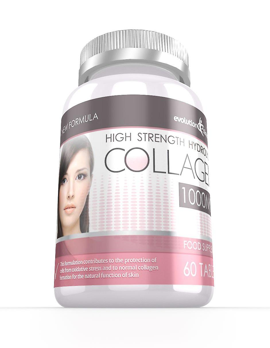 Hydrolysed Collagen High Strength 1,000mg for Hair, Skin and Nails - 60 Tablets - Skin and Joint Health - Evolution Slimming