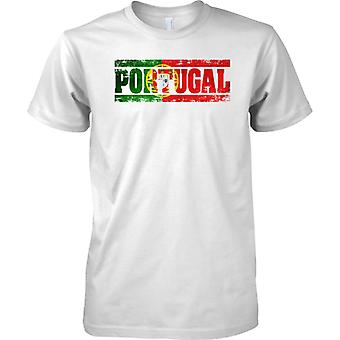 Portugal Grunge land naam vlag Effect - Kids T Shirt